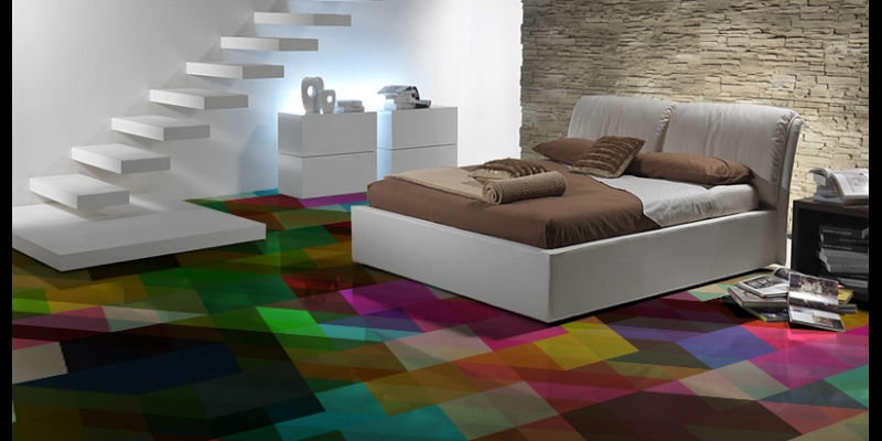 multi coloured geometric pattern