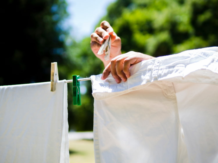 air drying clothes