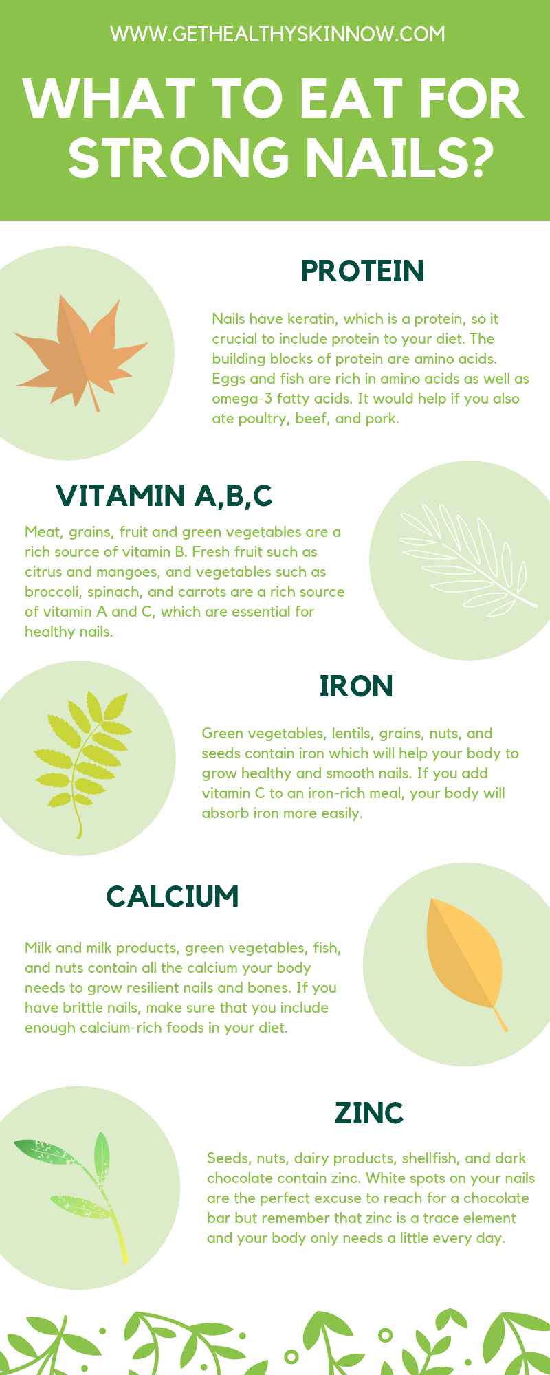 food for healthy nails infographic