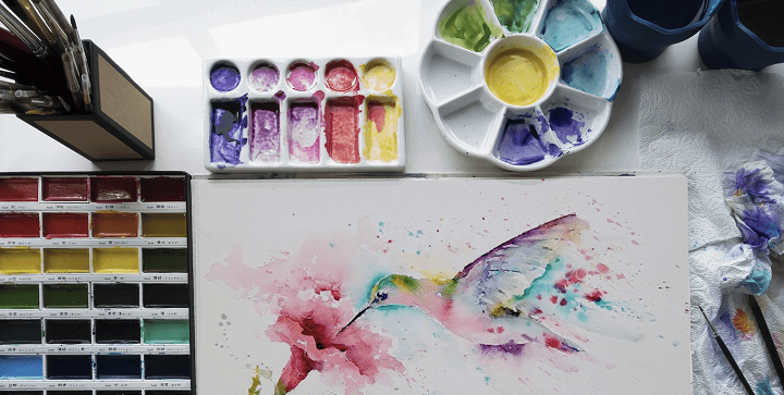 watercolor paint materials